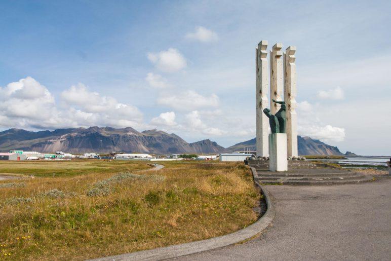 Das Seamen's Monument am sdlichen Ende des Hafengebiets