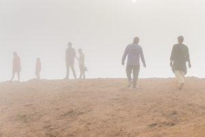 Es sieht aus wie ein Sandsturm, aber wir stehen in der Wolke