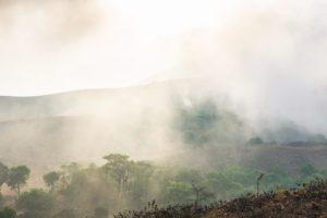 Der Nebel zieht aus dem Tal hinauf