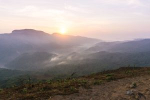 Sonnenaufganz in den Pushpagiri Hills