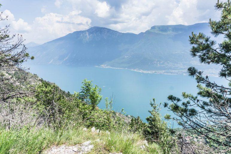 Immer wieder haben wir einen Gardasee- und Monte-Baldo-Panoramablick