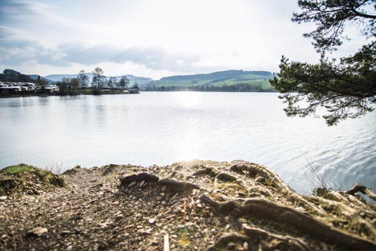 Ein Blick über den Diemelsee