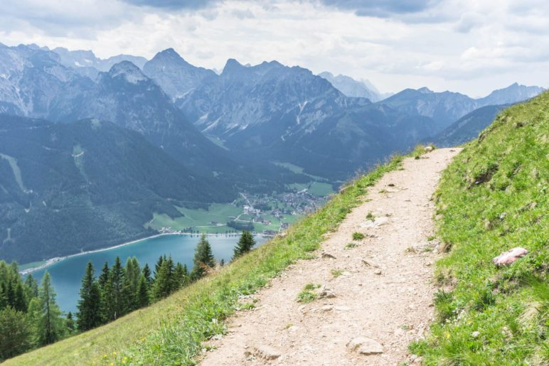 Ein Blick zurück ins Karwendel