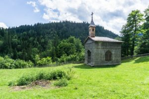 Die kleine Holzkapelle an der Erzherzog-Johann-Klause