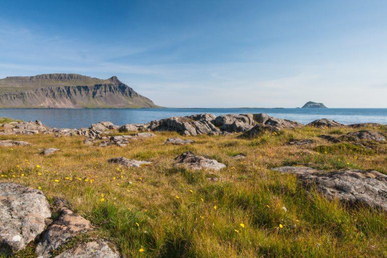 Die Fáskrúðsfjörður-Bucht an der Ostküste von Island