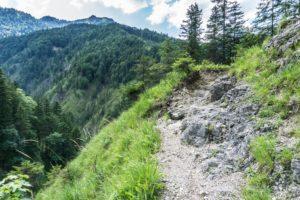 Auf dem Steig oberhalb der Brandenberger Ache