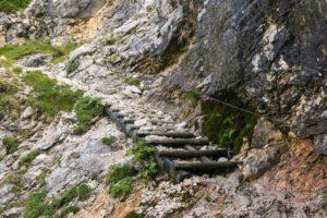 Treppen zum Hupfleitenjoch