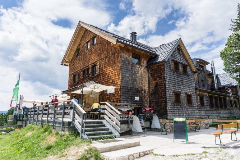 Die Erfurter Hütte, Start- und Endpunkt der kurzen Wanderung