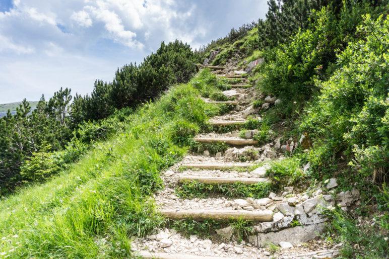 Über Stufen auf den Gschöllkopf