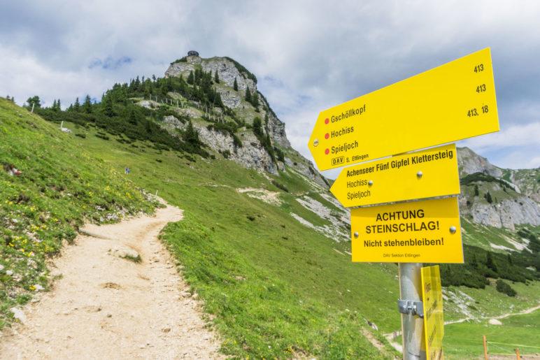 Auf dem Weg von der Erfurter Hütte zum Gschöllkopf