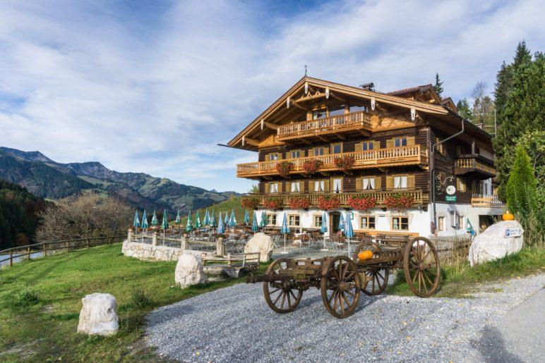 Der Berggasthof Bichlersee, in dem wir am Ende der Wanderung einkehren werden
