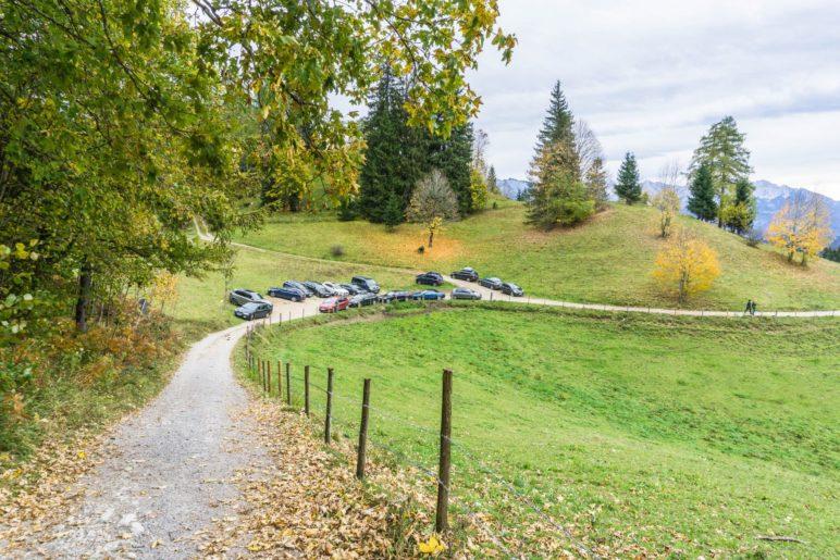 Der Parkplatz Bichlersee