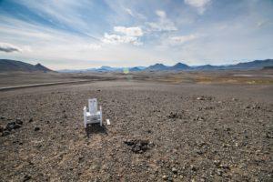Der Stuhl, die Landschaft
