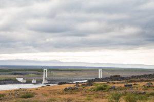 Die Brücke über den Jökulsá á Fjöllum an der Straße 85 nahe Ásbyrgi