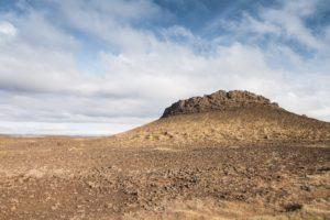 Ein Felsberg an der Straße 864, nördlich des Dettifoss