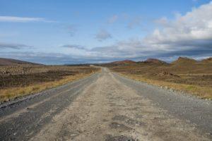 Auf der Gravel Road 864 nach Norden
