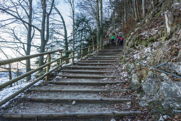 Nur einige der Stufen des Kaiseraufstiegs