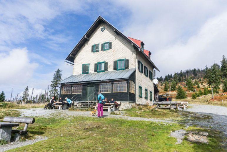 Am Waldschmidthaus auf 1360 Metern Höhe