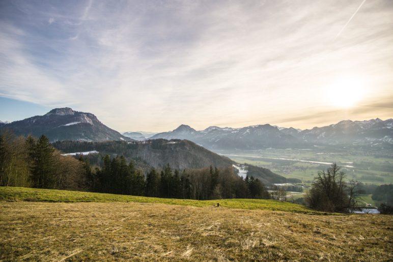 Toller Blick auf das nördliche Inntal und die Inntalberge
