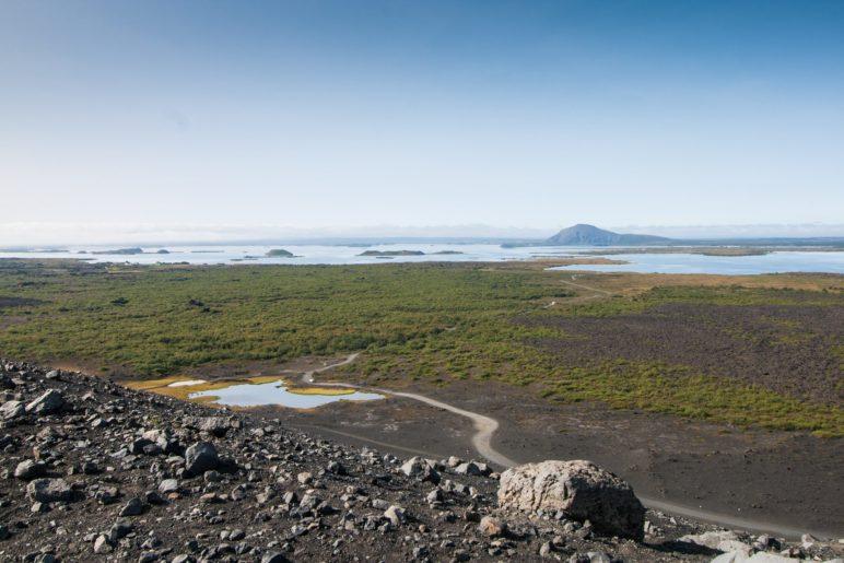 Der Blick vom Hverfjall auf den Mývatn