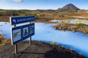 Am Abzweig zu den Mývatn Nature Baths