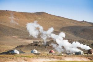 Geothermieanlage auf der anderen Seite der Ringstraße