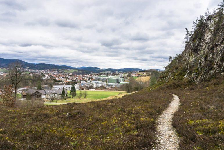 Blick zurück nach Viechtach