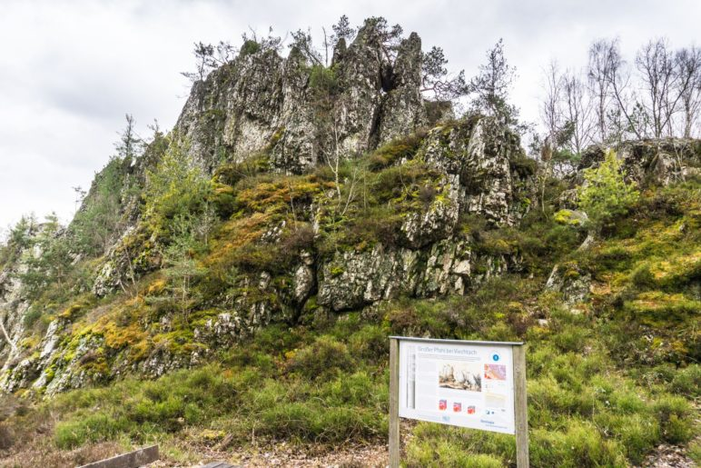 Markante Felsformationen am Großen Pfahl bei Viechtach