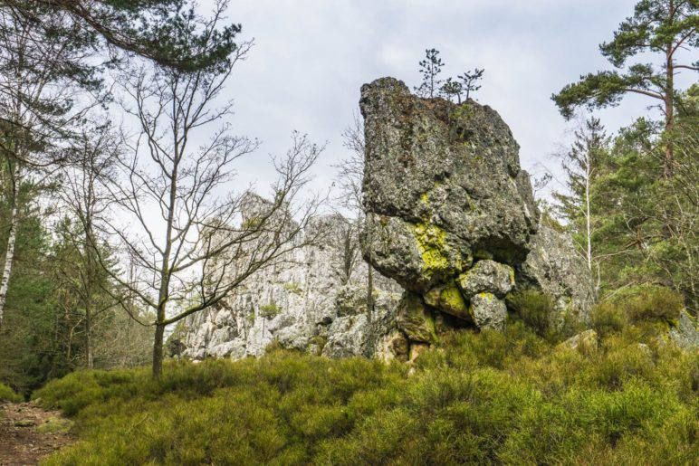 Ein markanter Felsen, der an ein Gesicht erinnert