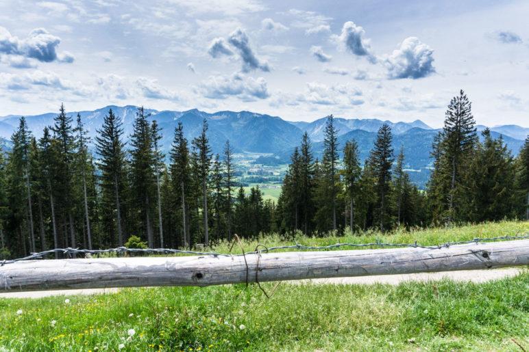 Die Schlierseer Berge vor uns. Panoramablick nach Süden vom Schwarzenberg-Gipfel