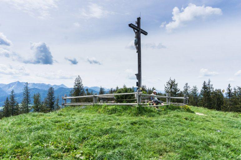 Der Schwarzenberg-Gipfel auf 1187 Metern Höhe