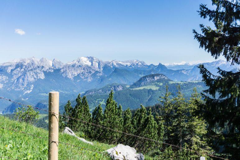 Ein Blick hinüber zu den Berchtesgadenern