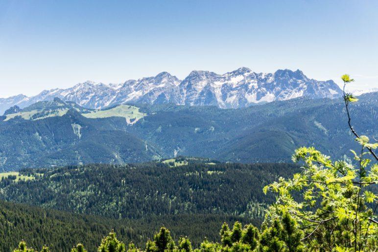 Ein Blick auf die Loferer Steinberge
