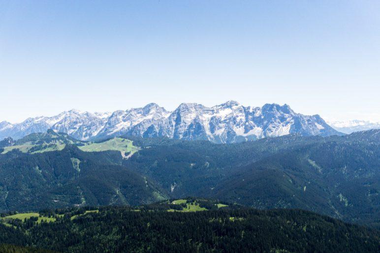 Die Loferer Steinberge, vom Gipfel des Dürrnbachhorns aus gesehen