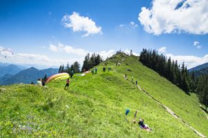 Auf dem Gipfel der 1422 Meter hohen Rampoldplatte