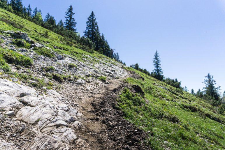 Endspurt auf dem Weg zur Bergstation