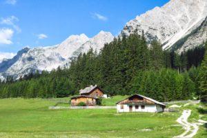 An der Angeralm im Karwendeltal
