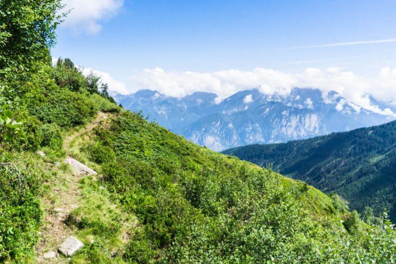 … und hinüber zur Nordkette über Innsbruck