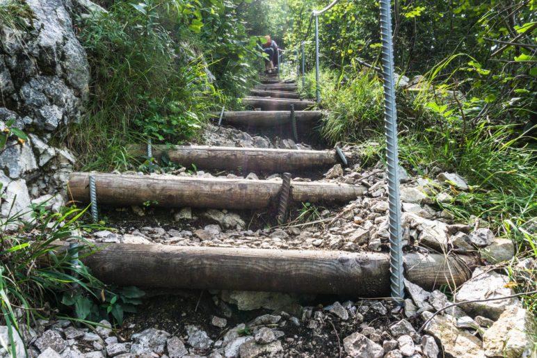 Aufstieg über Treppenstufen
