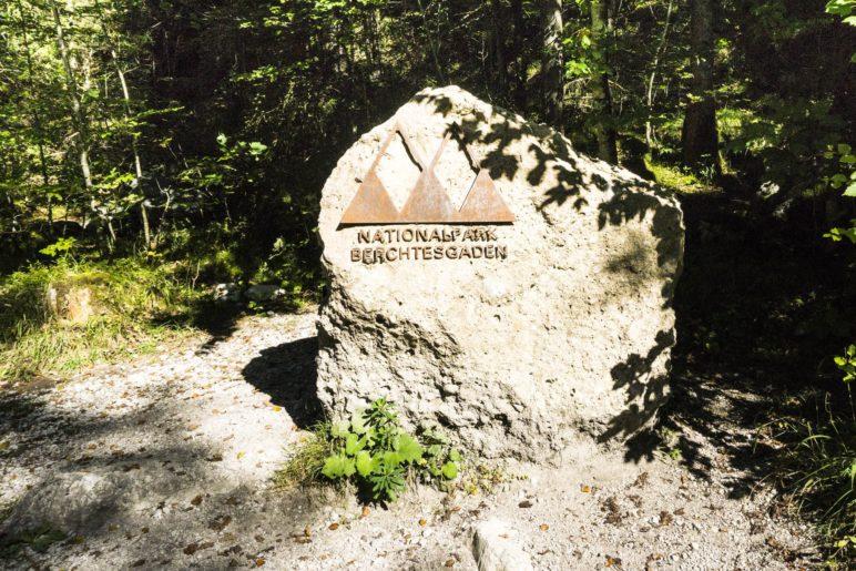 Ab jetzt wandern wir im Nationalpark Berchtesgaden