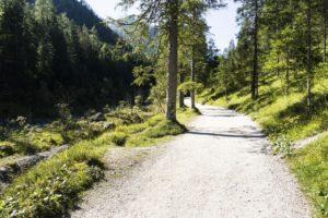 Der Weg hinauf zum Wimbachschloss ist durchgehend leicht