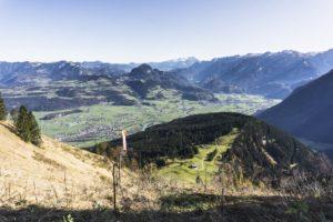 Das Salzachtal und im Hintergrund der Dachstein