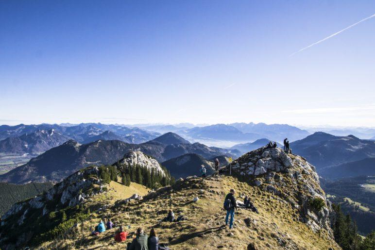 Der Blick in die Alpen vom Wildalpjoch aus