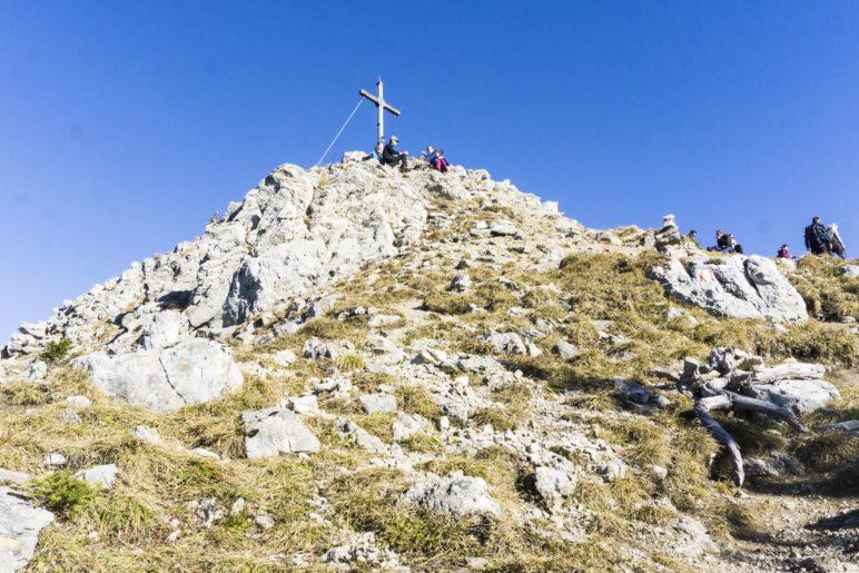 Der höchste Punkt der Wanderung: Der 1720 Meter hohe Gipfel des Wildalpjochs