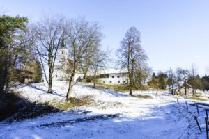 Nur noch wenige Meter bis zur Limberger Kirche