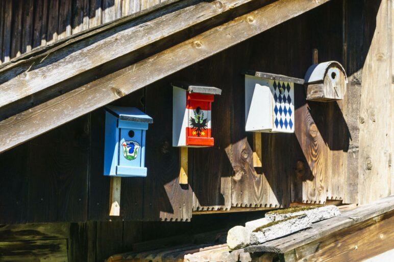 Bunte Vogelhäuschen in Grassau