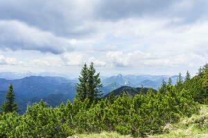 Bergblick vom Gipfel, in Richtung Süd-Westen