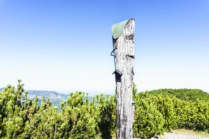 Das Nicht-Gipfelkreuz des Gurnwandkopfs