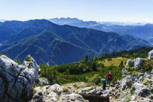 Gipfelblick von der Hörndlwand nach Süden