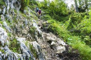 Der Jägersteig ist mehr Fels als Weg